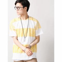 ウィゴー(メンズ)(WEGO)/ウィゴー(WEGO/ネックレス付きレイヤード総柄Tシャツ)