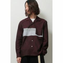 イッカ メンズ(ikka)/ツイル切り替えオープンカラーシャツ