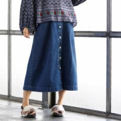 コーエン(レディース)(coen)/【大人気・追加生産】USAコットンデニムスカート