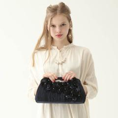 マシェールコゼット?(ma chere Cosette?)/【結婚式・フォーマル】あじさいくり手クラッチバッグ/パーティバッグ