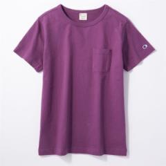 ライトオン(レディース)(Right−on)/【Champion】ポケット付クルーネックTシャツ ウィメンズ