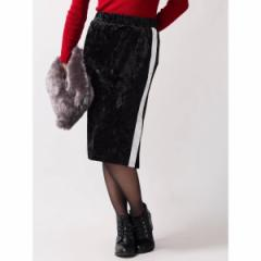 ウィゴー(レディース)(WEGO)/ウィゴー(WEGO/クラッシュベロアラインタイトスカート)