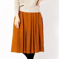 二コルホワイト(NICOLE white)/ドットランダムプリーツスカート