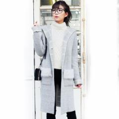 ジーラ バイ リュリュ(ファッション)(GeeRA by RyuRyu)/【WEB限定】ダブルフェイスフェイクファーポケットニットコート