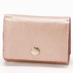トプカピ(TOPKAPI)/角シボ型押しメタリックレザー・三つ折りミニ財布