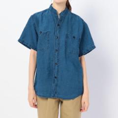ビショップ(レディース)(Bshop)/【orSlow】スタンドカラー半袖シャツ INDIGO WOMEN