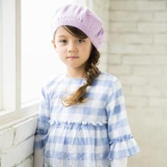 べべ(BeBe)/お花付ニットベレー帽