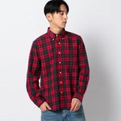 シップス(メンズ)(SHIPS)/SC: アメリカ製 ネル ボタンダウンシャツ