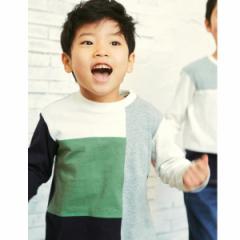 ザ ショップ ティーケー(キッズ)(THE SHOP TK Kids)/【150cmまで】ブロック切替ロングTシャツ