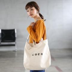 コーエン(レディース)(coen)/【2018SS新作 Largeサイズ】coen2WAYロゴトートバッグ