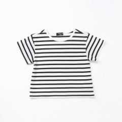 コムサイズムキッズ(COMME CA ISM)/AラインボーダーTシャツ