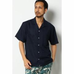 イッカ メンズ(ikka)/ポリ麻オープンカラーシャツ