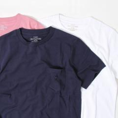 コーエン(メンズ)(coen)/USAコットンクルーネックポケットTシャツ2018SS(ライトピンク、ライトブルー⇒WEB限定カラー
