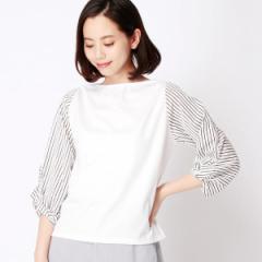 二コルホワイト(NICOLE white)/袖切り替えカットソー