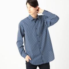 コムサイズムメンズ(COMME CA ISM)/ビッグシルエットストライプシャツ