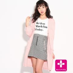 ピンク ラテ(PINK latte)/★ニコラ掲載★ロングカーデSET