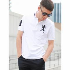 ジョルダーノ(メンズ)(GIORDANO)/ジョルダーノ(2018春夏商品【毎年大人気】3Dライオン刺繍ポロシャツ)