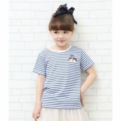 ロペピクニック(ROPE' PICNIC)/【ROPE  PICNIC KIDS】【milky】ペコポコボーダーTシャツ