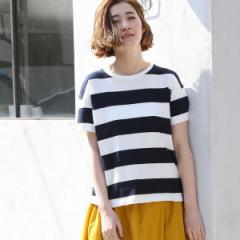 コーエン(レディース)(coen)/【CM着用アイテム】USAコットンボーダーTシャツ