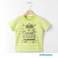ハッシュアッシュ(キッズ)(HusHusH Kids)/【ドラえもん】ボーダー×プリントTシャツ