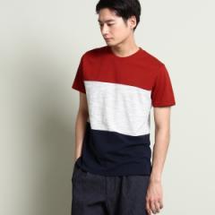 ザ ショップ ティーケー(メンズ)(THE SHOP TK Mens)/トリプル切り替えTシャツ