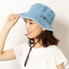 ミーア(帽子)(MiiA)/【サイズ調整機能・UV対策】フラワー刺繍フリンジブーニー(レディース/雑貨/帽子)