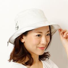 ミーア(帽子)(MiiA)/【サイズ調整機能・UV対策】花柄リボンハット(レディース/雑貨/帽子)