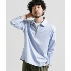 ナノ・ユニバース(メンズ)(nano universe)/【18SS】T/CストレッチハーフZIPシャツ