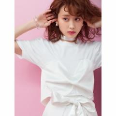 ウィゴー(レディース)(WEGO)/WEGO|【高橋愛コラボ】リボン付きTシャツ