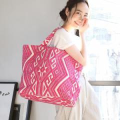 コーエン(レディース)(coen)/【『リンネル』6月号掲載】・Market】ジャガード刺繍ビッグトートバッグ