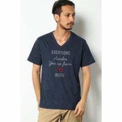 イッカ メンズ(ikka)/【Smart+】【汗染み防止】刺繍ロゴVネックTシャツ