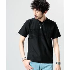 ナノ・ユニバース(メンズ)(nano universe)/【18SS】パネルパイルVネックTシャツ
