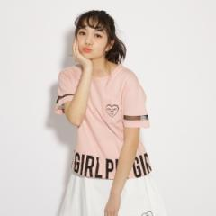 ピンク ラテ(PINK latte)/【吸水速乾】ビッグロゴTシャツ