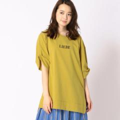 二コルホワイト(NICOLE white)/ロゴ刺繍ビッグTシャツ