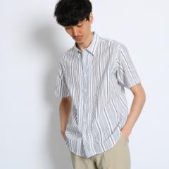 タケオキクチ(TAKEO KIKUCHI)/Mシャツ(リーフステッチストライプシャツ [ メンズ シャツ ])