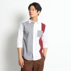 ザ ショップ ティーケー(メンズ)(THE SHOP TK Mens)/7分袖パネルシャツ