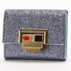 スパイラルガール(バッグ&ウォレット)(SPIRALGIRL)/グリッターメタリック三つ折り財布