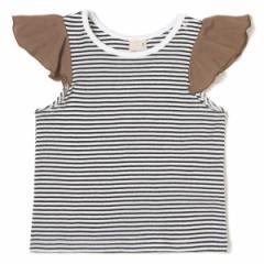 プティマイン(petit main)/ラッフル袖Tシャツ