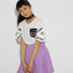 ピンク ラテ(PINK latte)/袖あきメッシュポケ Tシャツ