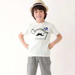サンカンシオン(キッズ)(3can4on Kids)/Tシャツ(マスタッシュプリントTシャツ)