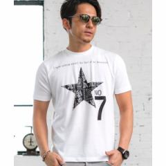 A・S・M(A.S.M)/スタ−&ナンバ−プリント/クル−ネックTシャツ