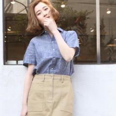 コーエン(レディース)(coen)/2WAYフレンチリネンショートスリーブシャツ