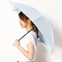プライベートレーベル(雨傘・日傘)(PRIVATE LABEL)/プライベートレーベルオーガンジー切継ぎ晴雨兼用ミニ傘
