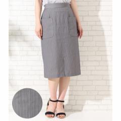 ロペピクニック(ROPE' PICNIC)/ビッグポケットIラインスカート