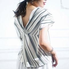 ジーラ バイ リュリュ(ファッション)(GeeRA by RyuRyu)/バックねじりカットジョーゼットブラウス