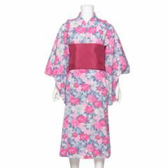 【NEW】プティマイン(petit main)/牡丹柄浴衣×帯セット