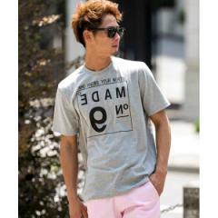 A・S・M(A.S.M)/ボックスナンバ−プリント/クル−ネックTシャツ