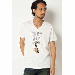 イッカ メンズ(ikka)/フロッキープリントTシャツ