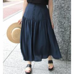 ロペピクニック(ROPE' PICNIC)/【WEB限定】フロント釦ティアードスカート