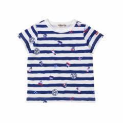 ミキハウス ホットビスケッツ(MIKIHOUSE HOT  BISCUITS)/Tシャツ(デイリーシリーズ / クルマ・マリンボーダー / 男児)